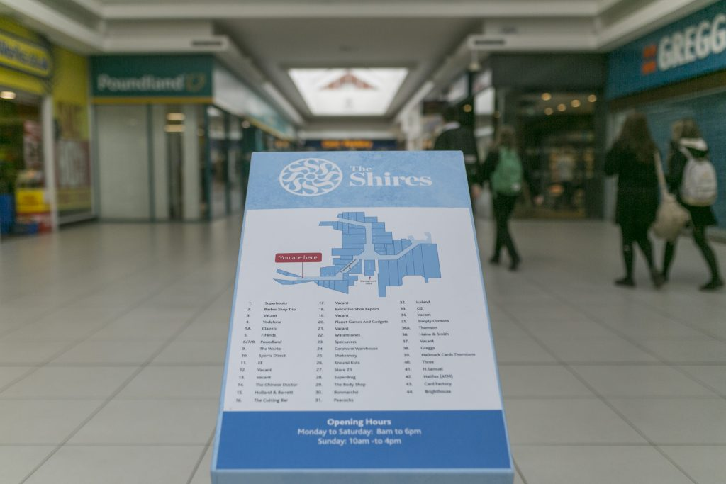 The Shires Shopping Centre <br><a target=